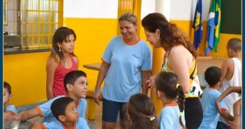 Prefeita Patricia em visita Surpresa às Creches e Escola Municipal