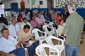 Ambientalistas e autoridades durante a Oficina de Turimso iniciada hoje cedo em Itaquiraí