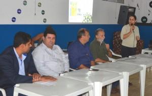 Anderson Zuza, vereador Edilon, prefeito Ricardo, Romano Pulzatto e Tais Nascimento na Oficina de Turismo de Itaquiraí