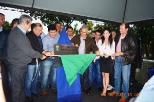 Onevan, prefeito Ricardo, vereador Edilson, governador Reinaldo, vereador Cirço do Táxi, deputada Mara e Marcelo Miglioli