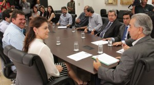 Prefeita Patricia é recebida pelo Governador Reinaldo Azambuja