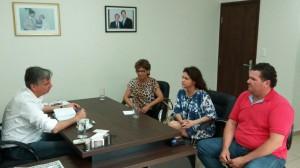 Prefeita Patricia, vereadora Miriam e Vice Genésio são recebidos pelo Deputado Dagoberto