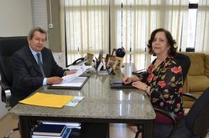 Deputado Onevan e Prof. Marilena Dias Barreto dos Reis