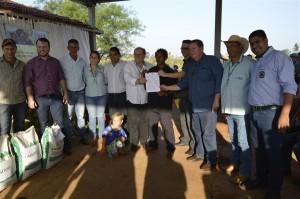 Ação da Agraer, Incra e Prefeitura de Itaquiraí garante CCU a assentados do Assentamento Santo Antônio.