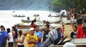 Praia da Amizade de Itaquiraí, ponto de largada do torneio de pesca Itaquipesca
