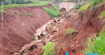 Chuvas destruíram escola e isolaram comunidade em Tacuru