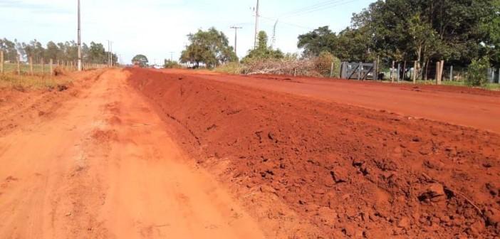 Agesul realiza levantamento da Estrada da Prainha, na parceria Governo do Estado com Município de Itaquiraí