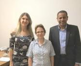 Eldorado- Ministra Tereza recebe prefeito Léo e vice Fabiana