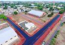 Pavimentação asfáltica beneficia área do ginásio em Iguatemi